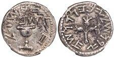 Ancient Judaea Jewish War AD 66-70 AR Silver Half-shekel  (6.81 g) YR 2 NGC CER
