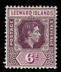LEEWARD ISLANDS GVI SG109b, 6d purple and deep magenta, M MINT. Cat £18.
