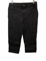 Isaac Mizrahi Women's Regular 24/7 Stretch 5-Pocket Crop Pants Black Size 14
