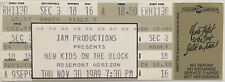 New Kids On The Block Concert Ticket Stub (November 30, 1989, Rosemont Horizon)