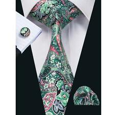 Hi Tie New Classic Men's Silk  tie set necktie cufflinks hanky Wedding  SN-1232