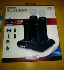 DreamGear Playstation 3 PS3 Move Controller Quad Charger, New!