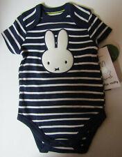 Miffy Baby-Body Bio-Baumwolle blau weiß gestreift kurzarm NEU
