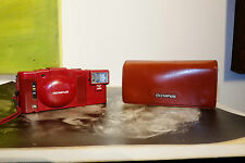 Rare Limited Edition Olympus XA3 Camera Red Colour w Leather case A11 Flash xa-3