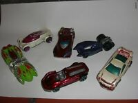 HOT WHEELS DIECAST  JOB LOT OF 6 RACE AND RALLY CARS 1/64TH SCALE
