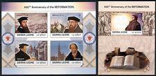 Martin Luther Reformation Protestantism Sierra Leone MNH stamp set IMPERFORATED