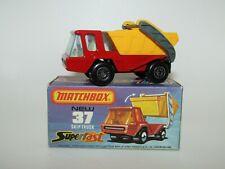 Matchbox Superfast No 37 Skip Truck Light Blue Tint Glass MIB Very Rare