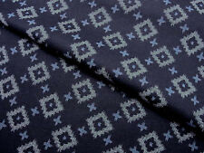Japanese Fabric_Cotton_Navy,Kasuri_Half Yard,#m017
