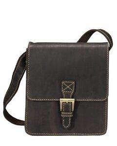 Visconti 18722 Genuine Leather Messenger Bag Shoulder Handbag Small Brown