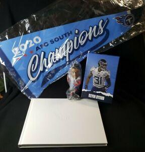 2020 Tennessee Titans Ticket Holder Bundle-Kevin Byard Bobblehead, Book & Banner