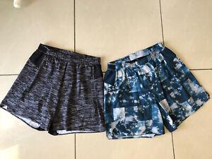 Two Pairs Of Men's LULULEMON Active Lightweight Shorts - Size M Medium