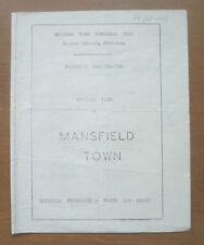 Swindon v Mansfield, 24/10/1959 - Football Combination (Reserves) Programme.