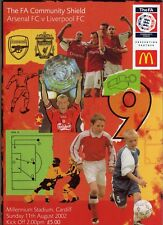 LIVERPOOL v ARSENAL, CHARITY SHIELD, 11th AUGUST 2002. MINT.