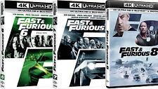 PACK FAST & FURIOUS 4K 3 ULTRA HD + 3 BLU RAY NUEVO ( SIN ABRIR ) FAST 6 7 8 4K