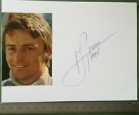 BB15 Photo dédicacée Autographe BE - Course automobile - René Arnoux