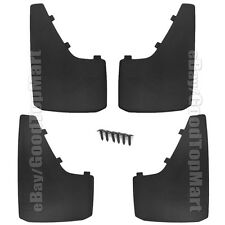 "Universal Car Truck Tire Mud Splash Guard Flaps 4PC Set Front Rear 15""x 9"" Set"