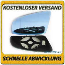 Spiegelglas für AUDI A6 2004-2008 links blau getönt asphärisch beheizbar