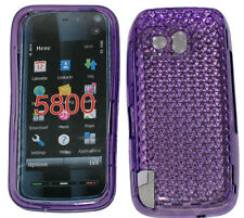 For Nokia 5800 XpressMusic Pattern Gel Case Protector Cover Purple New UK