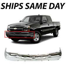 NEW - Chrome Front Bumper Face Bar for 2003-2007 Chevy Silverado Avalanche Truck