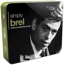 JACQUES BREL - SIMPLY BREL (3CD TIN) 3 CD NEW