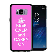 Pink Keep Calm and Carry On For Samsung Galaxy S8 Plus + 2017 Case Cover by Atom