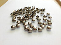 50 OR 100 X9MM DOMED NAIL HEAD STUDS IN SILVER FOR LEATHER & OTHER CRAFTS