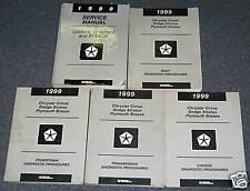 1999 Dodge Cirrus Status Breeze Service Manuals 5 Vol