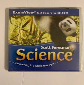 Scott Foresman Science Exam View Test Generator CD-Rom Pearson Sealed