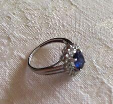 14ct White Gold, Tanzanite And Diamond Ring
