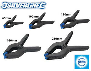 5 x Silverline Spring Clamps Small - Extra Large Quick Grips DIY Woodwork Crafts