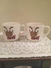 Caribou Coffee Reindeer Mugs 2010  10 oz