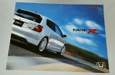 2002 Honda Civic Type R Catalog Brochure