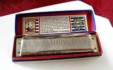 Vintage M. Hohner Marine Band Germany Harmonica Comes With Original Box