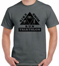Triathlon T-Shirt Mens Cycling Running Swimming Ironman Sport Bike Kit Triangle