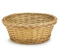 "Lot Of 6 Burton Round Baskets Natural Willow, 10"" X 4.5"""