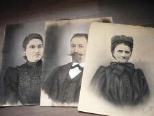 3 GRANDS DESSINS PASTELS ORIGINAUX SIGNES 1900