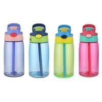 Portable Plastic Drinking Cup 480mL Leakproof Sports Water Bottle w/Straw Kids