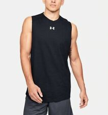 Under Armour Mens Charged Cotton Just Sayin Too Tank Top Basketball Shirt