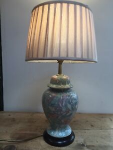"COUNTRY HOUSE STYLE GLAZED GINGER JAR  CERAMIC TABLE  LAMP  15 1/2"" T X 5 1/2"" W"