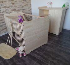 Babyzimmer komplett Set Gitterbett Babybett Gitterbett Kommode 70x140 MASSIVHOLZ