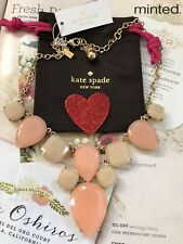 "14K Gold Plated 100% Authentic New$179 Kate Spade necklace 22"" Pink New York"