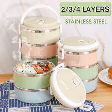 2/3/4 Layers Stainless Steel Thermal Insulated Lunch Box Bento Picnic Container