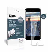 2x Apple iPhone 8 Plus Schutzfolie - Panzerfolie 9H Folie dipos Glass