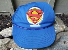 1980's Rare Vintage Superman Logo Trucker Cap Hat Snapback DC Comics Movies