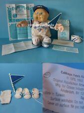Vintage 1985 CPK Cabbage Patch Kid Blue Jays Baseball Boy Doll MLB Tagged Taiwan