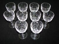 "Set of 10 English ""Hampshire"" Port Wine Glasses by Stuart Fabulous Condition"
