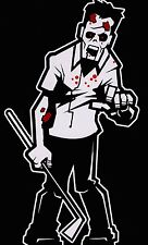 Bloody Golf Club Dad Zombie Walking Dead Family Vinyl Decal Sticker