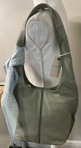 NEW Lucky Brand clyo hobo leather purse tote seagrass color NWT $188