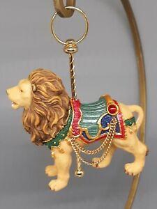 Costco Carousel Christmas Tree Ornament Lion Animal Ornaments Kirkland Holiday