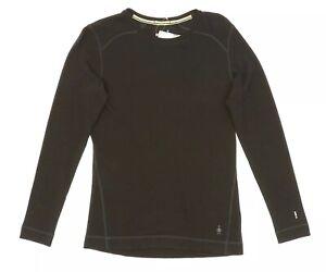 Smartwool Womens Merino 250 Black Baselayer Crewneck Top 82448 Sz Large